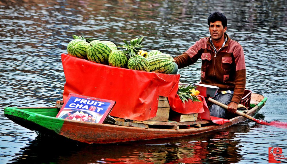 Fruit Chat in Dal Lake by Umee