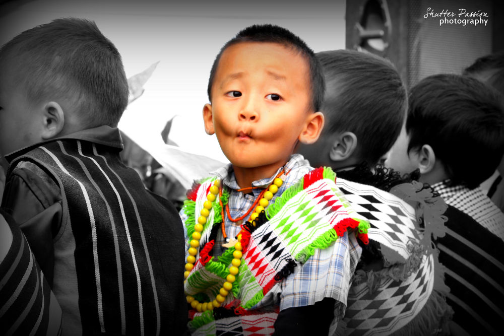 Angami Boy in Traditional Attire nagaland by akrudolie