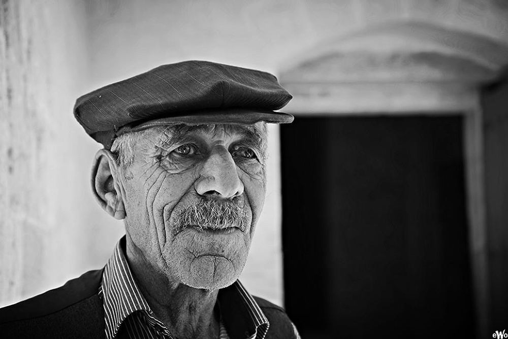 Photo in Black and White #oldman #balck and white #portrait #turkey #mardin