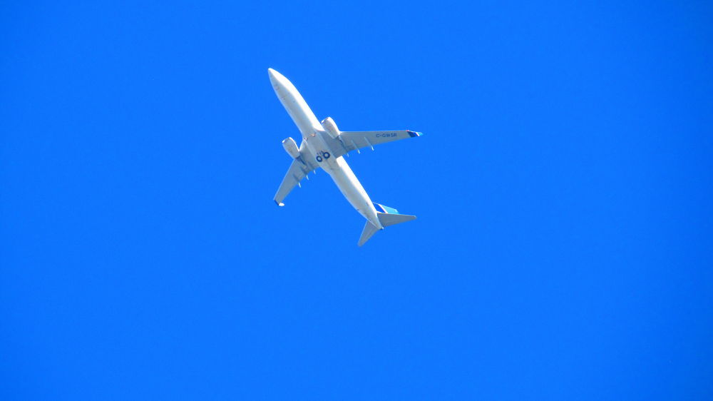 Blue SKY and Plane by simonp S&R Photography