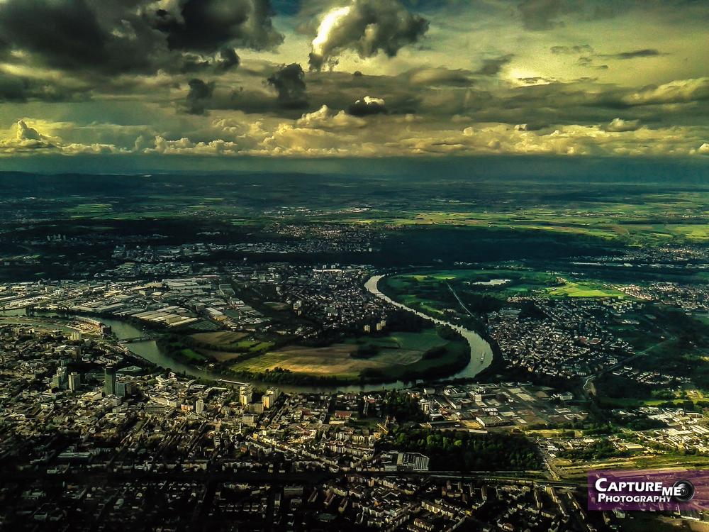 Frankfurt from the air by jasonmuscat1