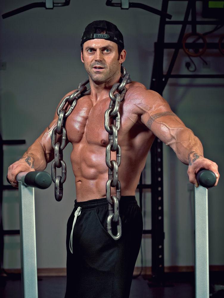 Photo in Sports #sport #bodybuilding #portrait #man #chain #muscles