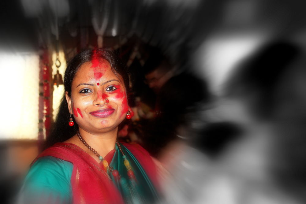 Photo in Random #bride #festivals #vermilion #durgapuja #woman