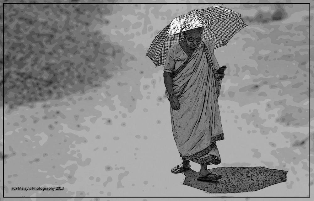Old age...!! by Malay Karmakar