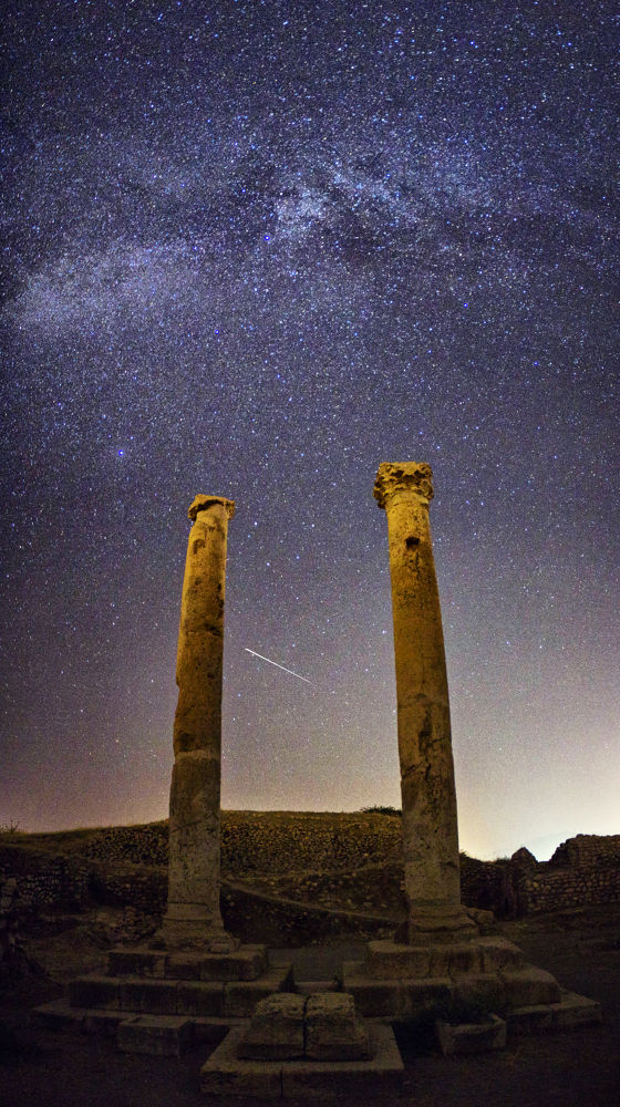 MILKY way at the top of BISHAPUR palace by Aria Aref