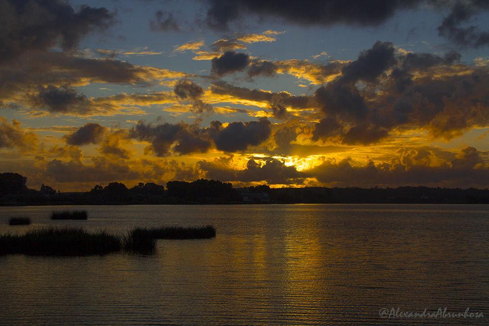 Photo in Random #lake #sunset