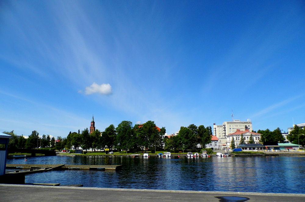 Center of Savonlinna by Ann
