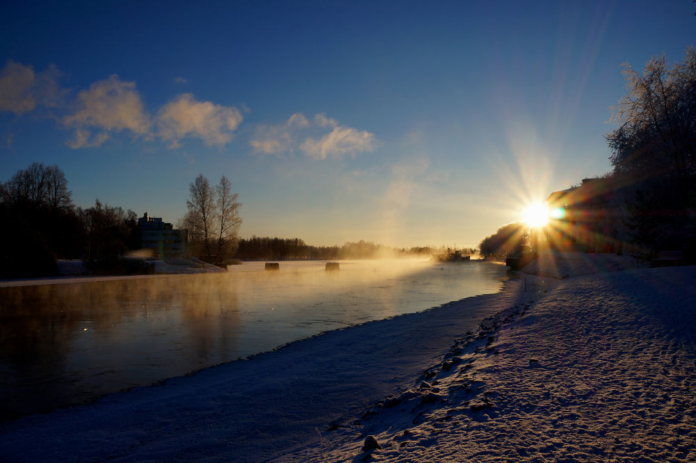 The sunrise  -20 celcius by Ann
