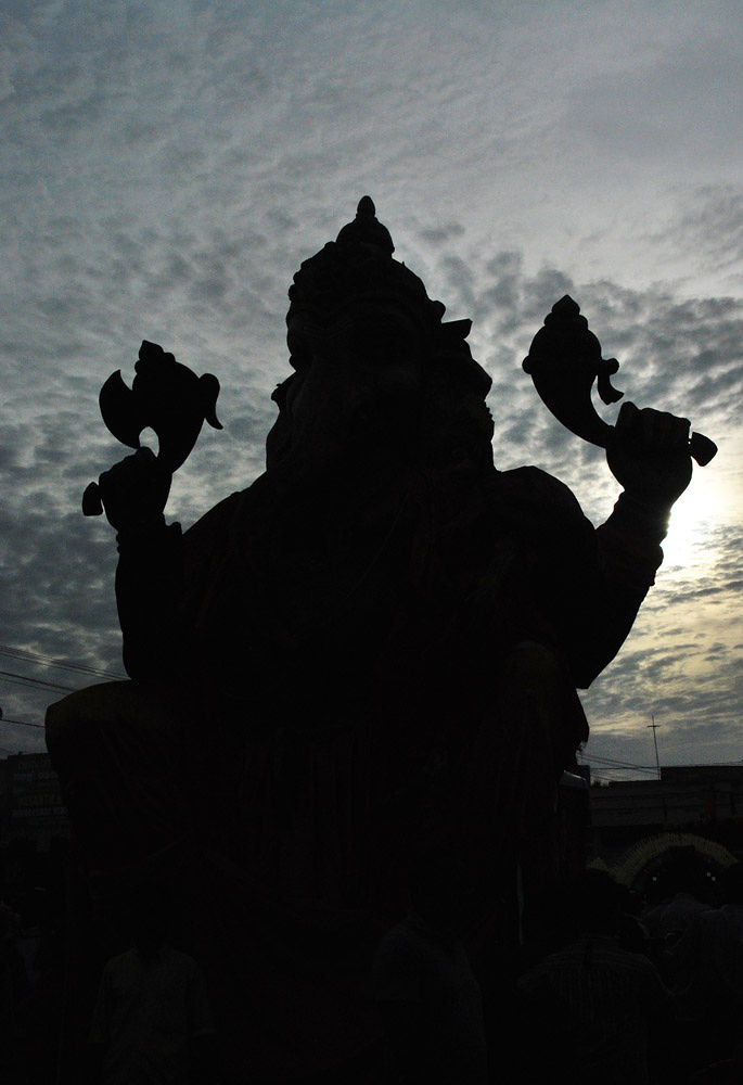 Lord Ganapathi_silhouette by sujithvarambil