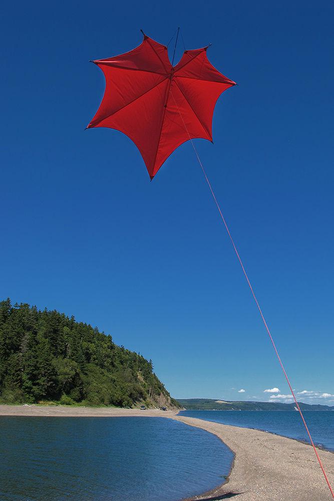 Photo in Random #kite #maple leaf #canada #red #blue #wather #andreas napravnik