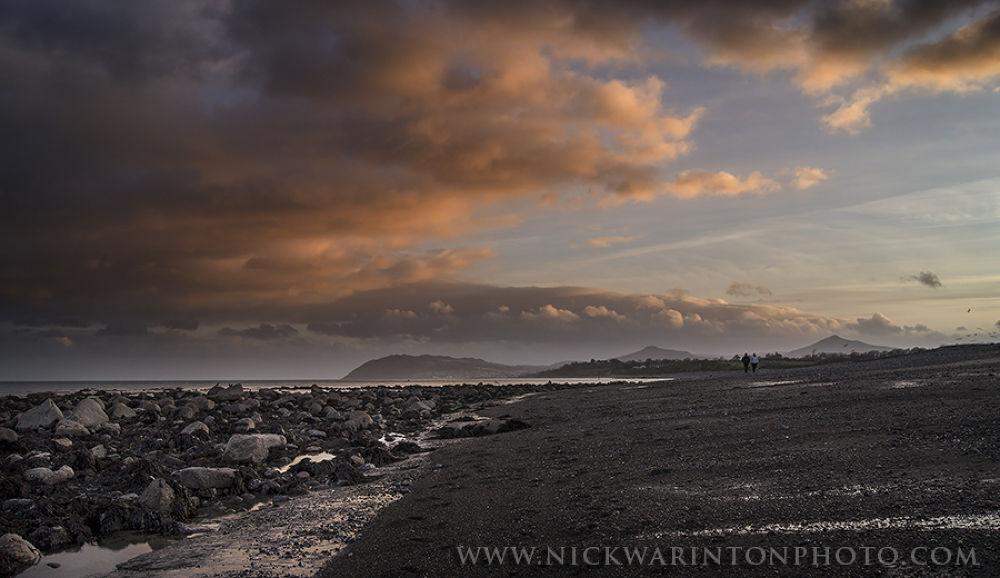Winter walk on Killiney Beach, Ireland by nswar