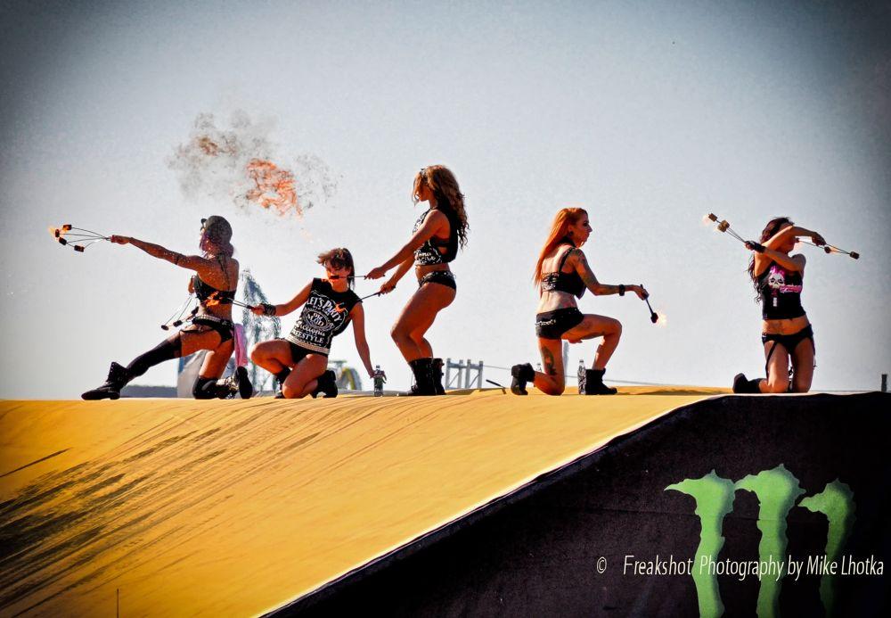 The Fuel Girls @ Ken Blocks Gymkhana World Tour Kick Off Event in Vienna 2011 by FreakshotPhotography