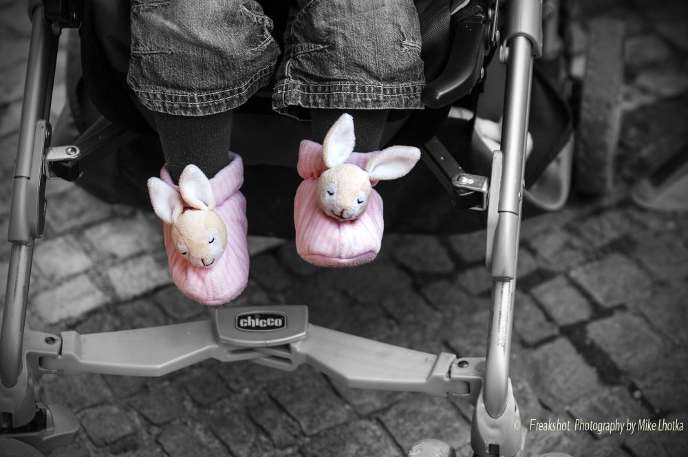 bunny shoes by FreakshotPhotography