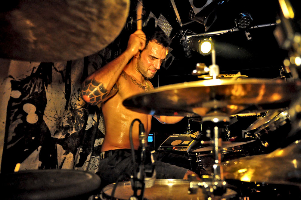 Drummer at work by FreakshotPhotography