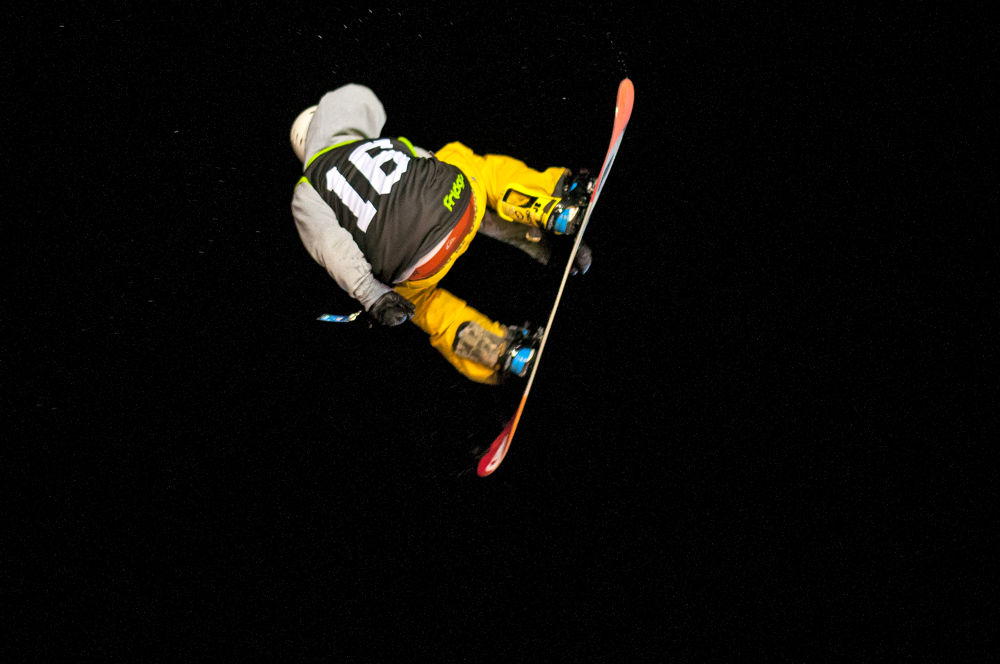 Freestyle Snowboard at night by FreakshotPhotography