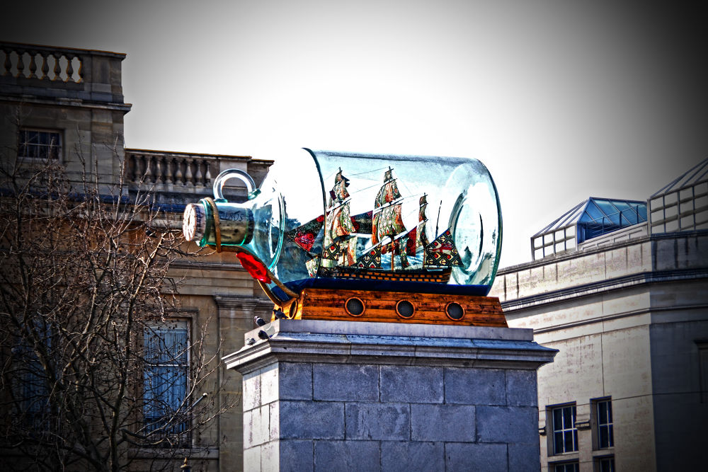 Nelsons Ship in a bottle by FreakshotPhotography