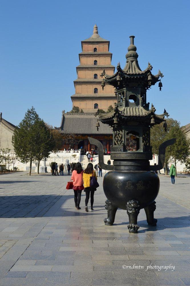 The Big Wild Goose Pagoda (Dayan Ta) by rndmtn