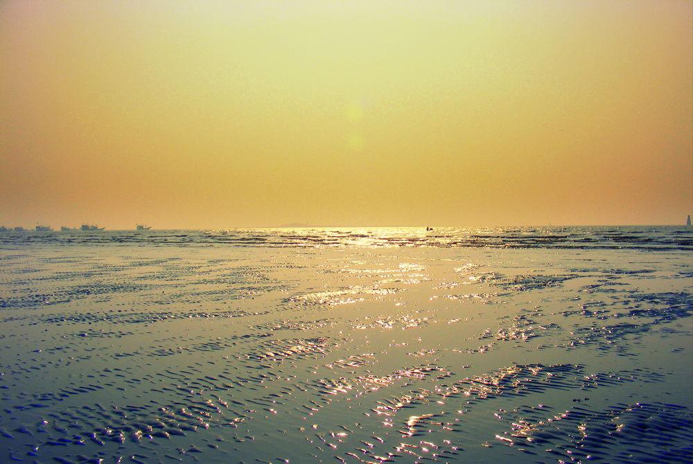 New Year Dawn - Gorai Beach by Baljeet