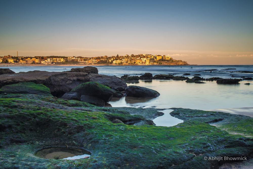 Sun Set Over Bondi Beach, NSW, Australia by abhijitbhowmick