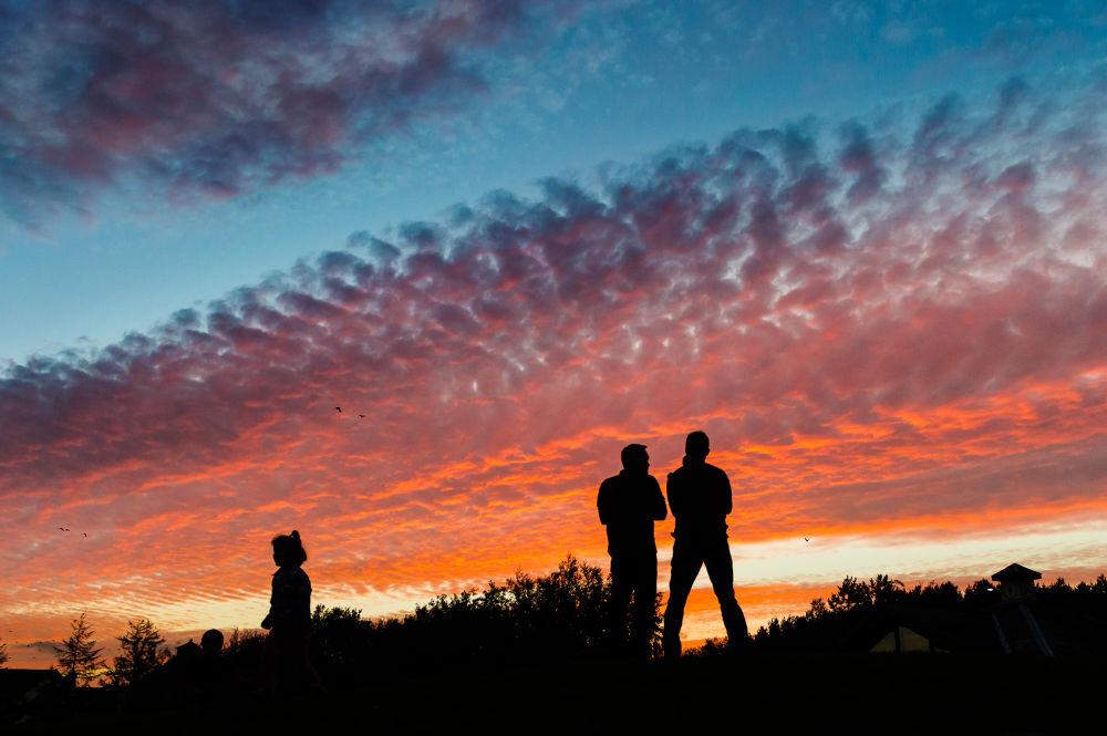 Photo in Landscape #nikon #twilight #sky #sun #sunset #birmingham #uk #silhouette #orange #blue #hour #shadow #ypa2013