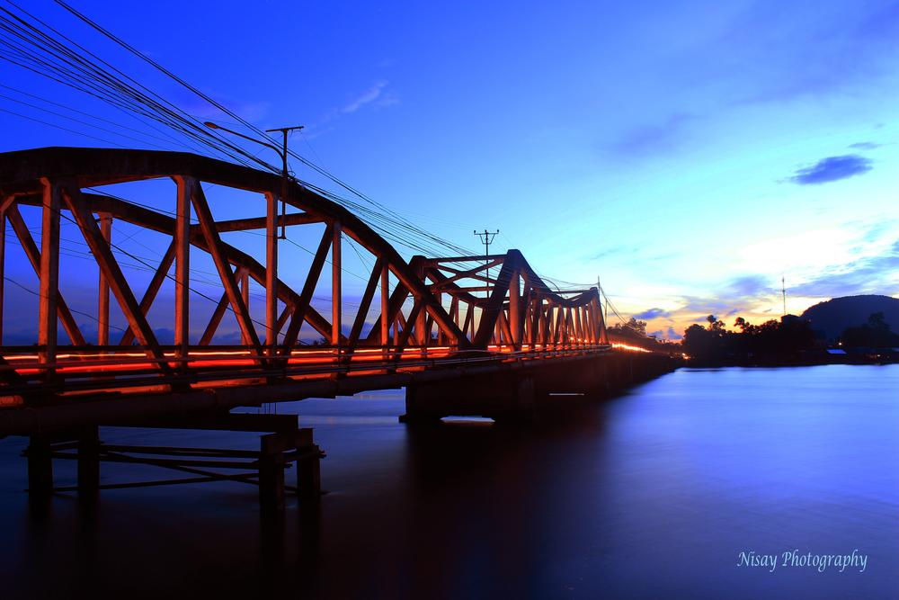 KOMPOT BRIDGE - CAMBODIA  by PKAY NISAY