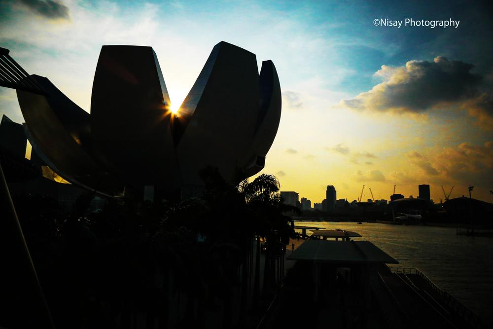 MARINA BAY ABOUT SUNSET by PKAY NISAY
