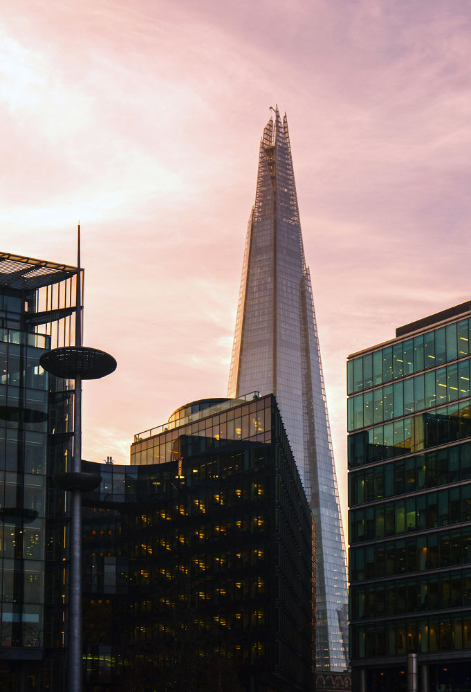 The Shard at twilight by sofiadilauro