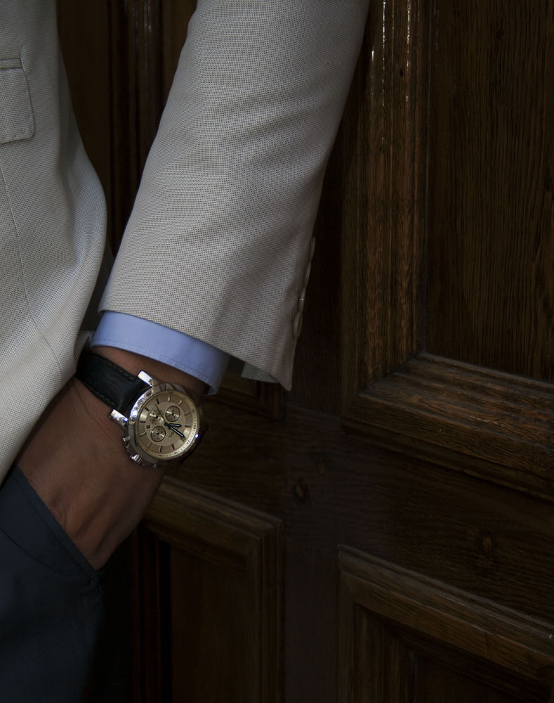 Photo in Fashion #fashion #man #watch #time #suit #wood