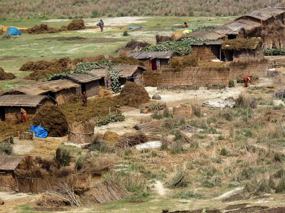 Village on an Island in Mighty Ganges River by Shahriar Ahmed Tusher