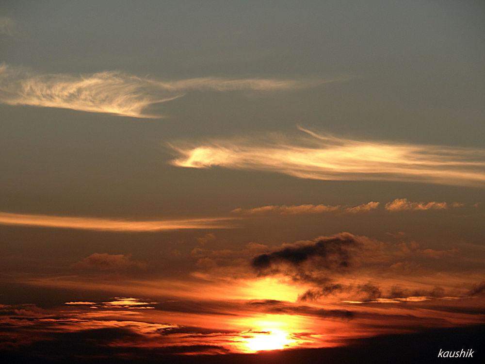 SUNRISE FROM OKHREY , WEST SIKKIM by Kaushik