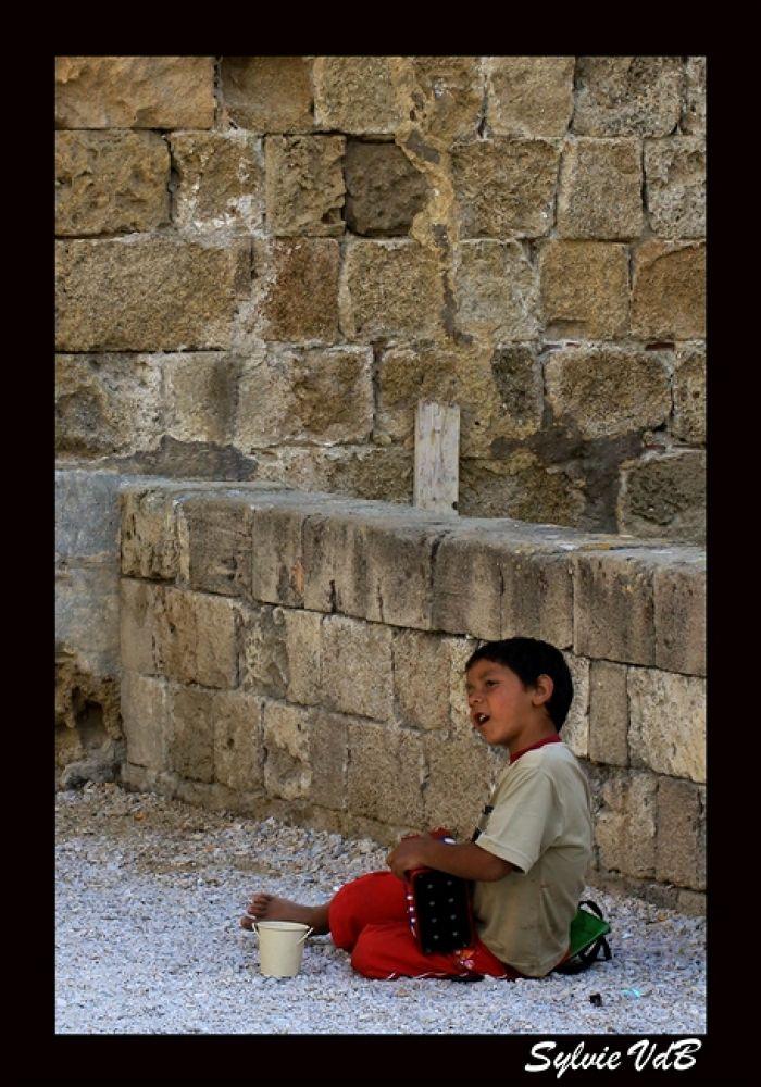 Busking Boy by sylvievdbphotography