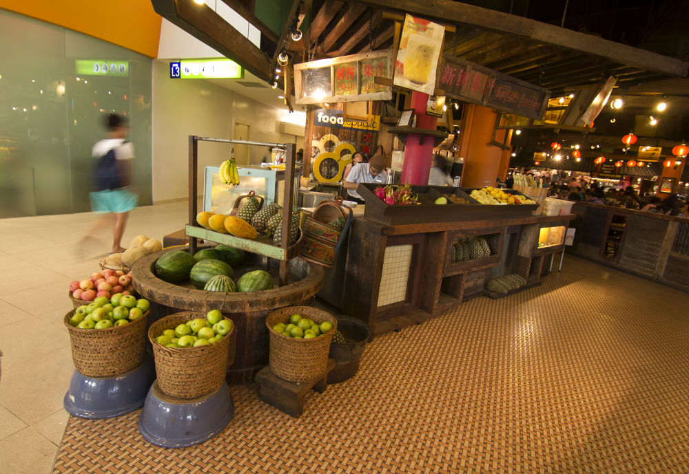 Vegetable shop inside the mall. by Amitabh Photography