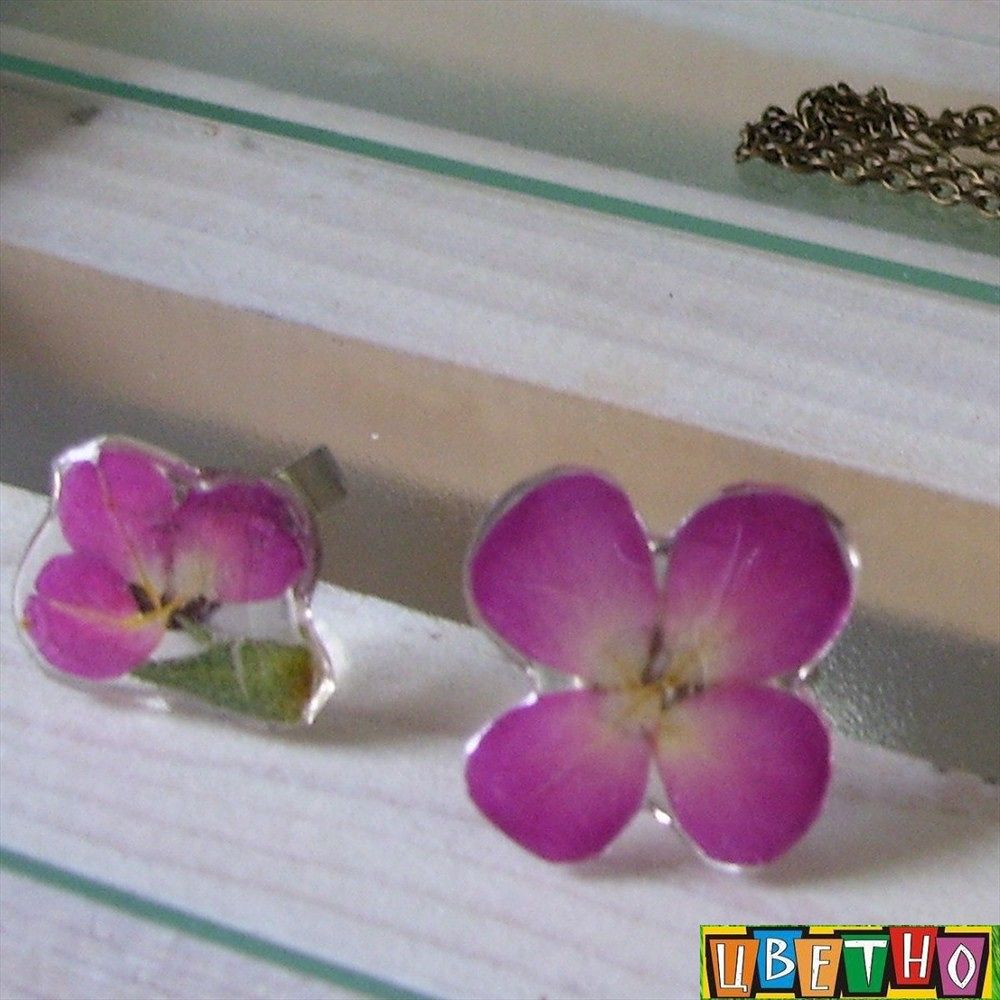 jewelry by real flowers by CvetnoPlovdiv