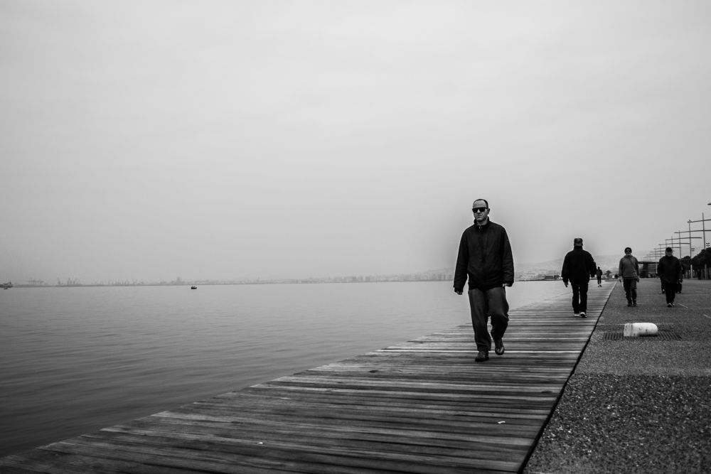 Photo in Street Photography #black and white #street #urban #sea #candid #snapshot #people