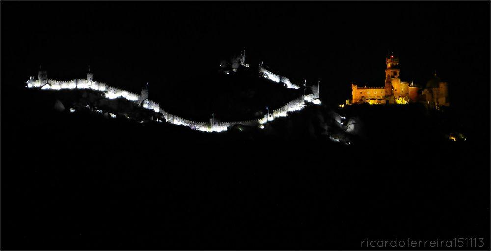 Sintra, castelo dos mouros e palácio da Pena. Moorish castle and Pena palace. by ricardoXPTOferreira
