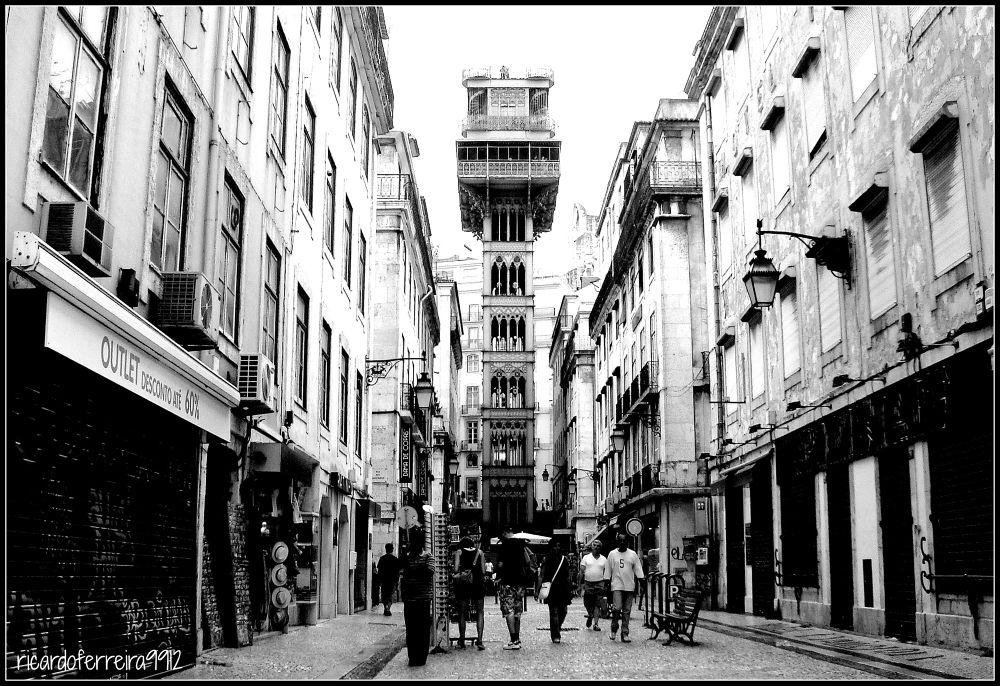 Baixa/Downtown Lisboa. Elevador/Lift de Santa Justa ( Gustave Eiffel school ). by ricardoXPTOferreira