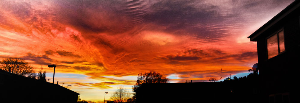 Panorama Fire In The Sky by Dean