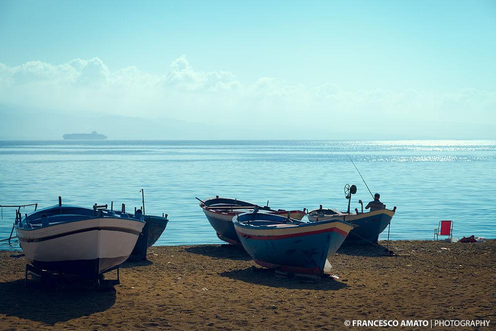 Pescando una barca by famato