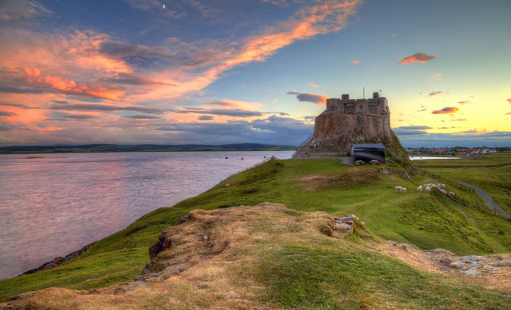 Photo in Random #holy island #uk #lindisfarne castle #travel #sunset