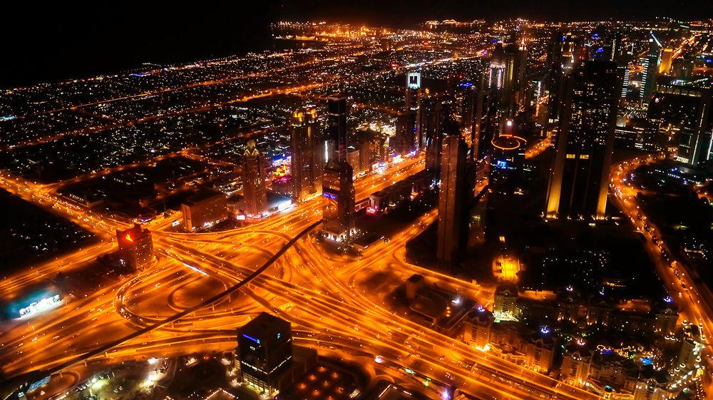 A View from Burj khalifa by Sinosh VA