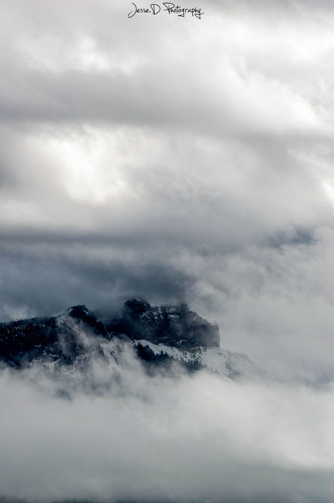 Photo in Nature #cloudy #mountains #alps #snow #winter #weather