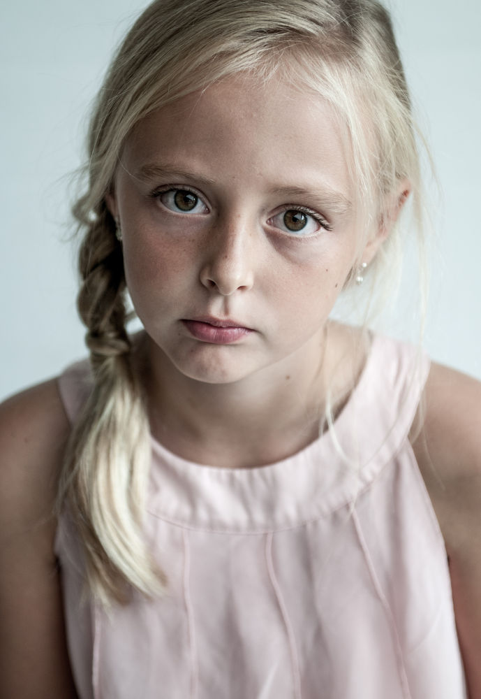 Photo in Portrait #girl #child #portrait #emotion #romantic