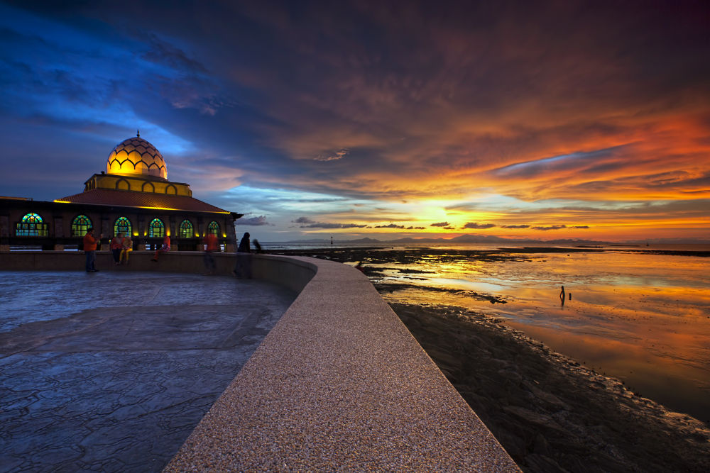 Photo in Landscape #sunset #building #mosque