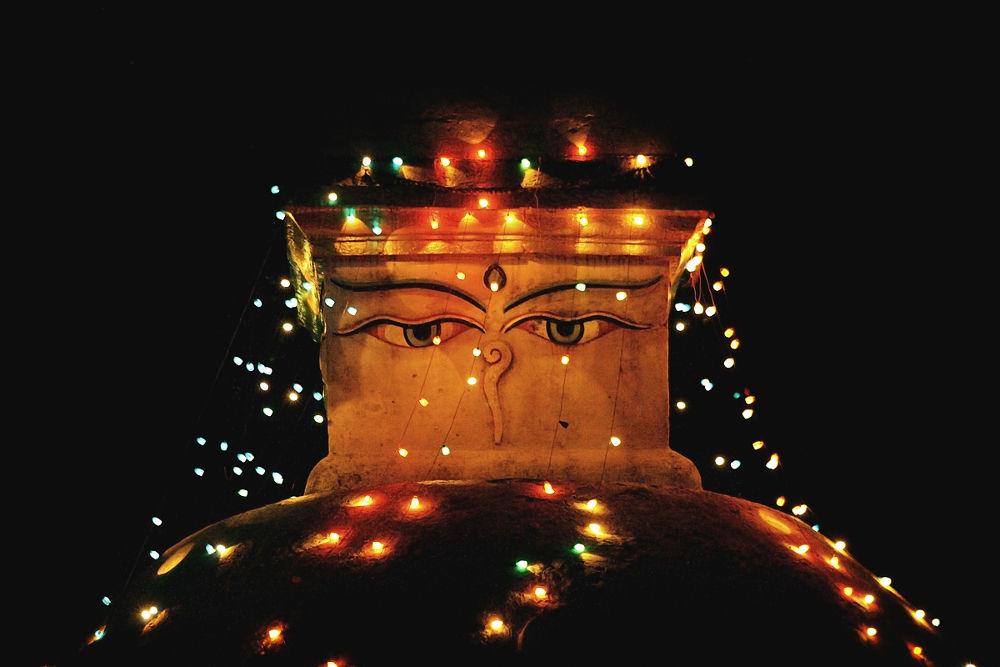2861 Bouddhanath stupa with illumination at night in Kathmandu.JPG by cococinema