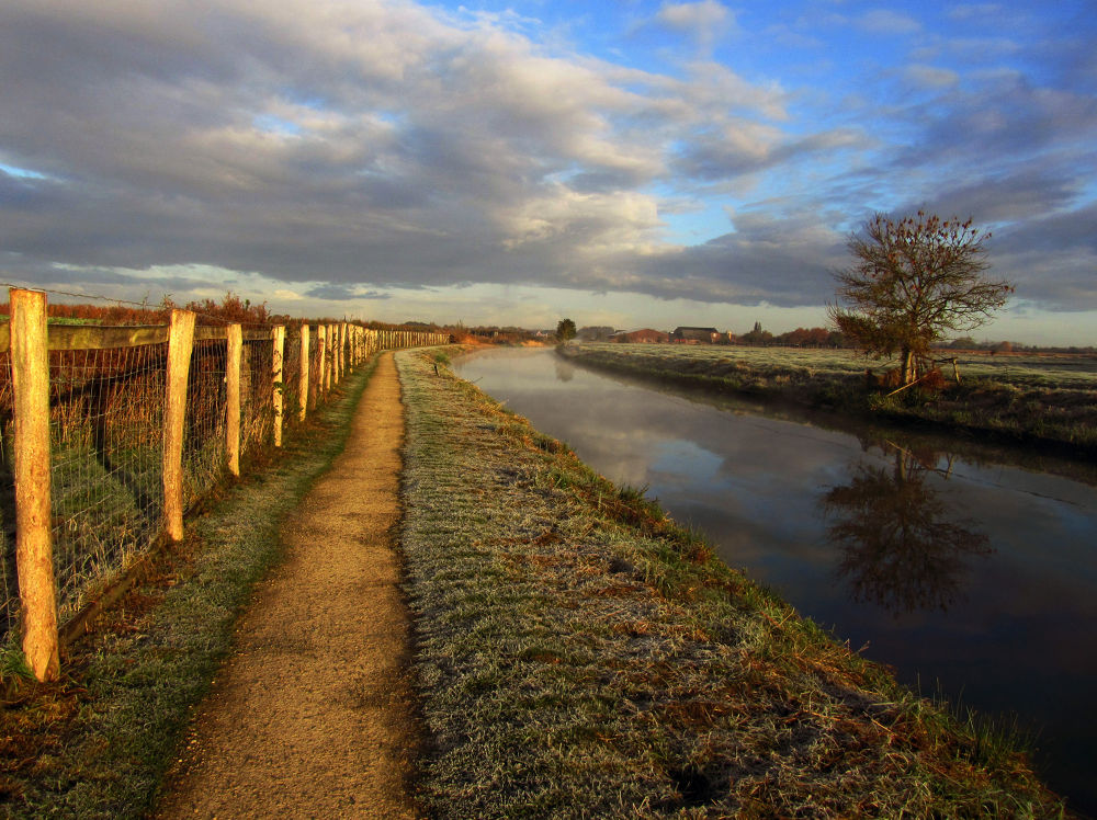 Photo in Landscape #winter #landscape #nature #river #reflection #tree #clouds #sky #odijk #holland #netherlands