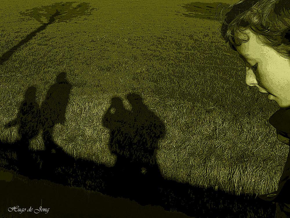 Photo in Random #art #shadows #boy #nature #landscape #cothen #holland #netherlands