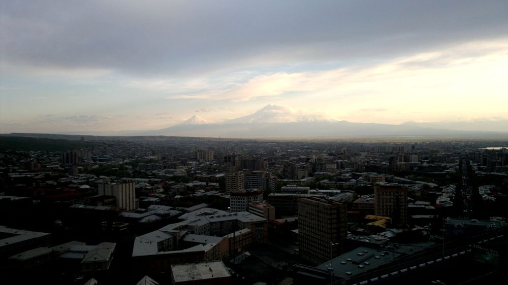 Yerevan, Armenian capital and Ararat by donthinker
