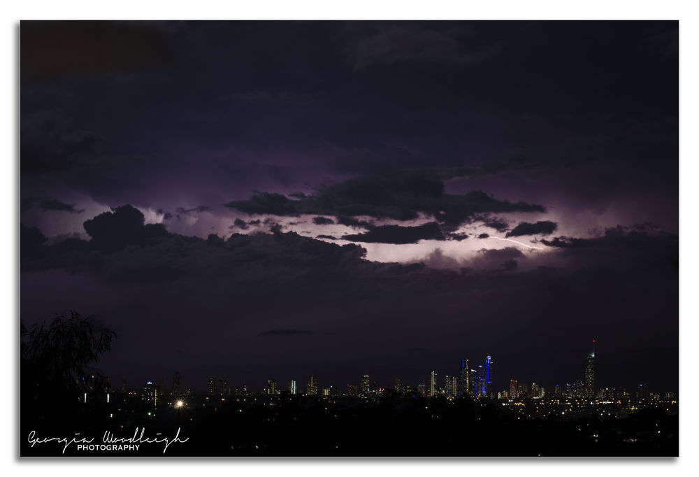 Storm over Surfers Paradise by Georgia Woodleigh