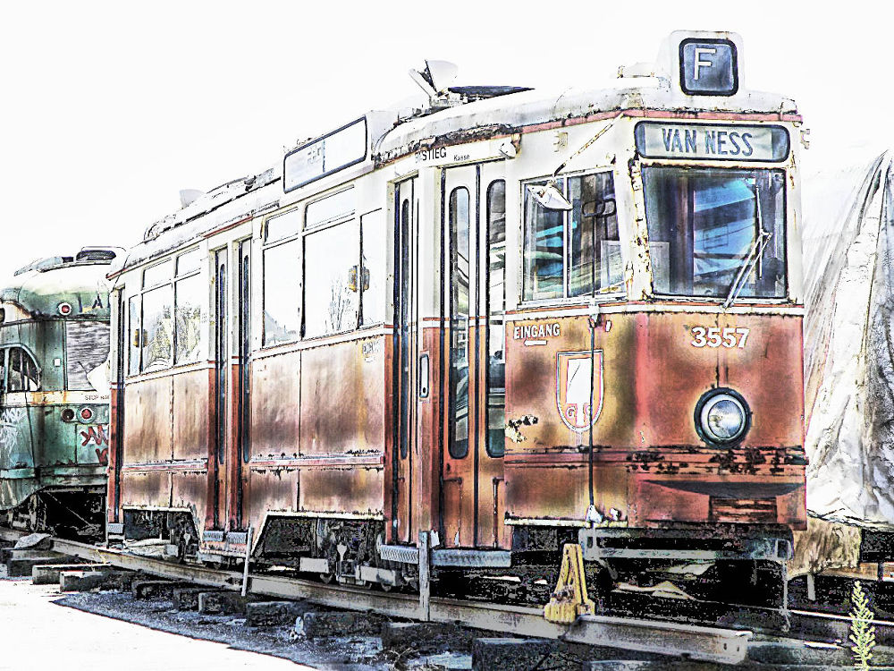 End of the Line - trolly junk yard by FlannelPhotos