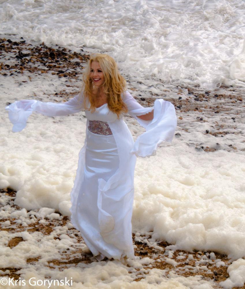 Created from sea foam by Kris Gorynski
